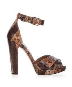 Alexander McQueen   Leather Block-Heel Platform Sandals