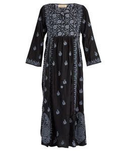 Muzungu Sisters | Embroidered Silk-Habotai Dress