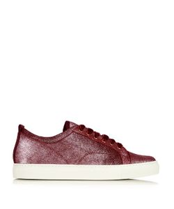 Lanvin | Metallic-Leather Low-Top Trainers