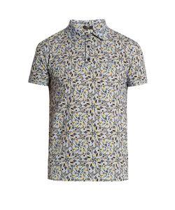 Fendi   -Print Cotton-Piqué Polo Shirt
