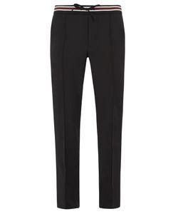 Valentino | Slim-Leg Striped-Waist Wool-Blend Trousers