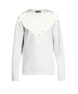 Burberry | Lace-Insert Jersey Sweatshirt