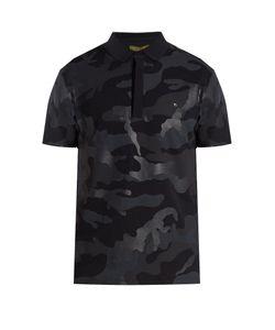 Valentino | Camauflage-Print Cotton-Piqué Polo Shirt