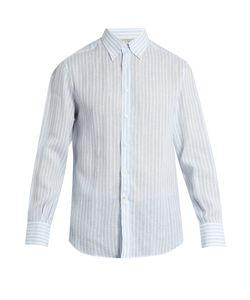 Brunello Cucinelli | Single-Cuff Striped-Linen Shirt