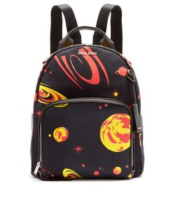 Miu Miu | Planet-Print Canvas Backpack