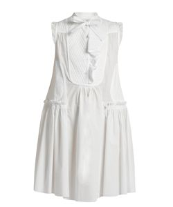 Moncler | Sleeveless Cotton-Poplin Dress