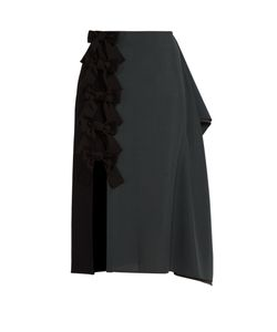 Fendi | Extended-Seam Wool-Blend Pencil Skirt