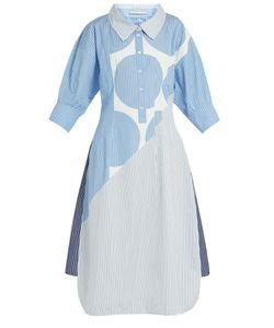 Stella McCartney | Sandrina Circle-Print Striped Cotton Shirtdress
