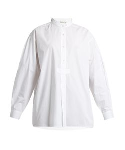 Mes Demoiselles | Kamisa Stand-Collar Cotton-Voile Shirt