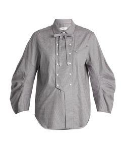 Toga | Detachable-Bow Cotton Shirt