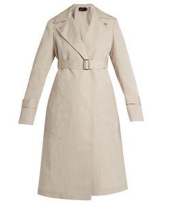Calvin Klein Collection | Peak-Lapel Long Silk-Blend Coat
