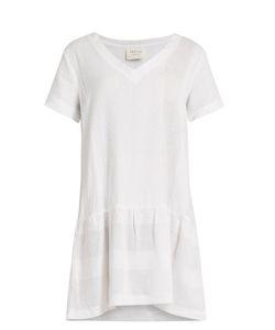 Cecilie Copenhagen   V-Neck Scarf-Jacquard Cotton Dress