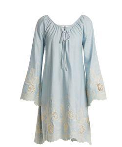 Athena Procopiou   Gypset Embroidered Cotton Dress