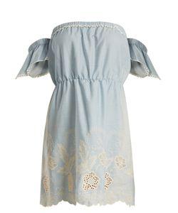 Athena Procopiou   Gypset Off-The-Shoulder Cotton Mini Dress