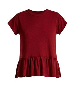 The Great | The Ruffle Cotton T-Shirt