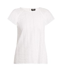 A.P.C. | Mina Embroidered Cotton Top