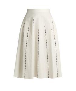 BOTTEGA VENETA | A-Line Linen-Blend Skirt
