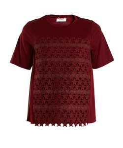 Muveil | Star-Embroidered Cotton-Blend T-Shirt