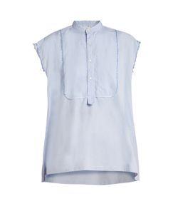 Nili Lotan | Elise Frayed Edge Cotton Shirt
