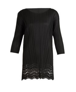 Pleats Please By Issey Miyake | Pleated Lace Cut-Out Top