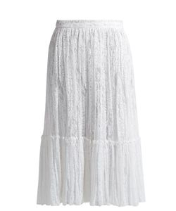 Valentino | -Embroide Tulle Midi Skirt