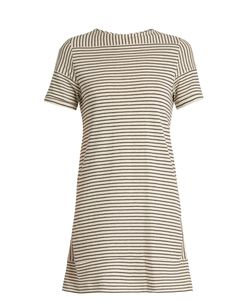 A.P.C. | Mauricia Striped Cotton-Blend Jersey Dress