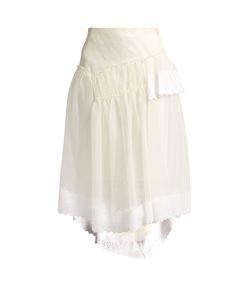 Simone Rocha | Broderie-Anglaise Trimmed Organza Skirt