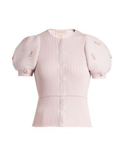Giambattista Valli | Embellished Ribbed-Knit Cotton Cardigan