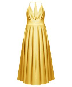 Racil | Bianca Halterneck Satin Dress