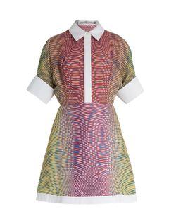 Mary Katrantzou | Achilles More Optic-Print Silk And Jacquard Dress