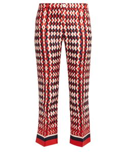 F.R.S - FOR RESTLESS SLEEPERS | Ceo Geometric-Print Silk Pyjama Trousers
