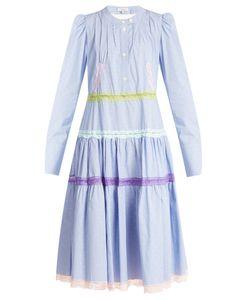 Natasha Zinko | Gingham Lace-Trimmed Cotton Dress