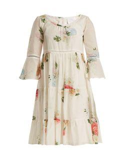 Athena Procopiou   Summer Bloom Cotton And Silk-Blend Dress
