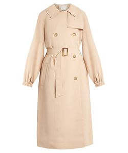 Tibi | Notch-Lapel Double-Breasted Twill Trench Coat