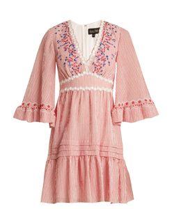 Saloni | June Striped-Seersucker Dress