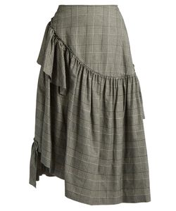 Simone Rocha | Prince Of Wales-Checked Ruffle Skirt