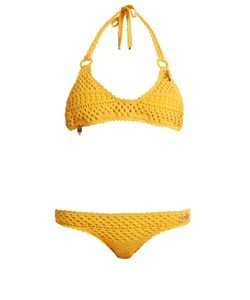 Stella McCartney | Cotton-Blend Crochet Charm Bikini