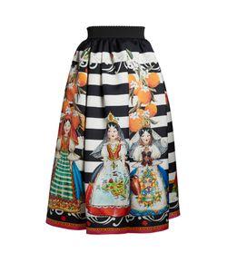 Dolce & Gabbana | Doll-Print Mikado Midi Skirt