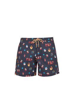 THORSUN   Titan-Fit Carnival-Print Swim Shorts