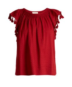 The Great | The Tassel Flutter Cotton Top