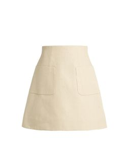 Delpozo | A-Line Linen Mini Skirt