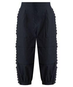 Fendi | Scallop-Edged Cropped Cotton Cargo Trousers