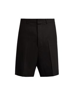 AMI | Mid-Rise Wide-Leg Stretch-Wool Tailored Shorts