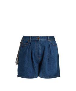 Miu Miu | Pleated-Front High-Rise Shorts