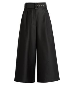 Isa Arfen | Safari Cotton And Silk-Blend Wide-Leg Trousers