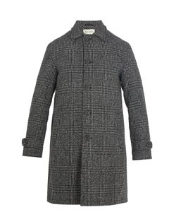 Oliver Spencer | Beaumont Point-Collar Checked-Wool Coat