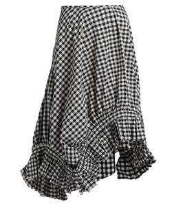 MARQUES'ALMEIDA | Ruffle-Trim Gingham Midi Skirt