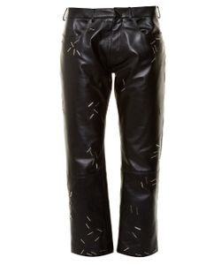 Christopher Kane | Staple-Embellished Straight-Leg Leather Trousers