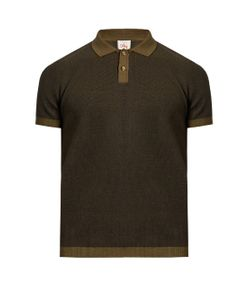 Orley   Contrast-Collar Cotton-Knit Polo Shirt