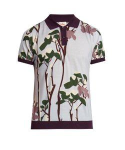 Orley   Snow Flower-Print Polo Shirt